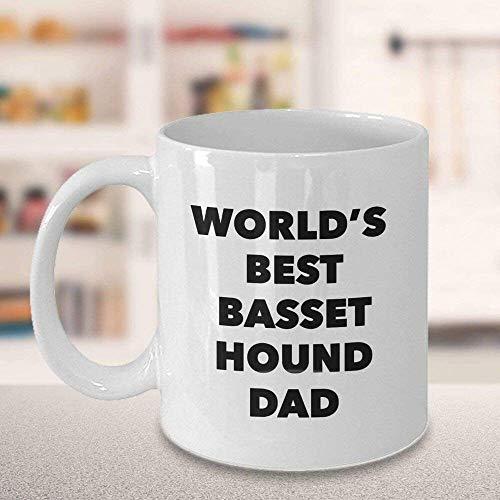 Tazas de café, el mejor Basset Hound del mundo, taza de café para papá, regalo para el día de la madre, regalos novedosos y divertidos, regalo de 11 oz