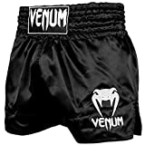 Venum Classic Short de Muay Thai Mixte Adulte, Noir/Blanc, FR : L (Taille Fabricant : L)