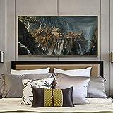QianLei LOTR Rivendell Herr Der Ringe Poster Hobbit HD Leinwand Wandkunst Ölgemälde Dekoratives Bild Modern Home Decoration-No Frame 40x60cm
