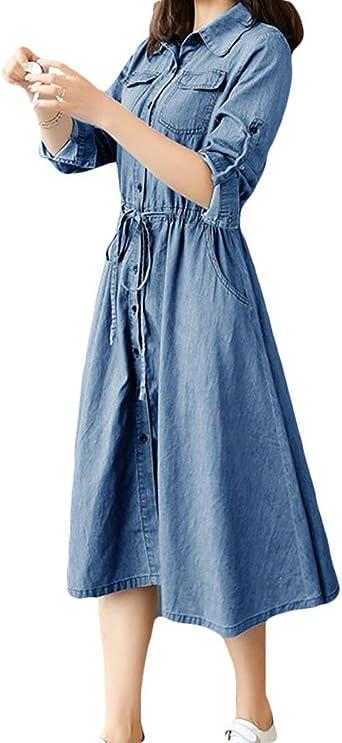 Mujer Playa Vestidos de Fiesta para Bodas Faldas de Vaqueros ...