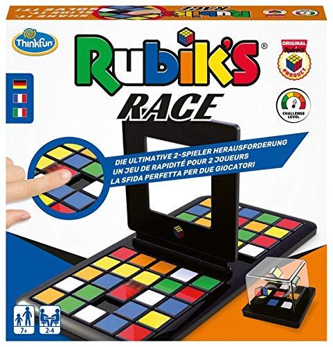 ThinkFun 76399 - Rubik's Race. Die Herausforderung für Fans des original Rubik's Cubes. Das unterhaltsame, temporeiche Spiel für 2 Spieler bekannt aus der TV-Sendung Schlag den Star.