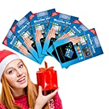 Clean Screen Wizard Microfiber Screen Cleaner Sticker, Handy Screen Cleaning Kit, 6 Pack Bundle Cleaning Stickers, 1 Large, 2 Medium, 3 Small in Black for Multi Size Screens- Individually Wrapped Gift Stocking Stuffers