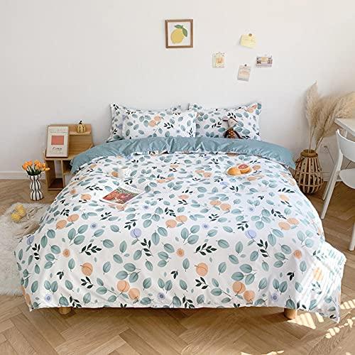 hdfj12146 100% algodón Acolchado algodón Dormitorio Colcha Colcha Cubierta de Tres Piezas Hoja de Cama Conjunto de lecho Conjunto de Lujo Hoja edredón El Cielo es Azul 1.2m 3pcs