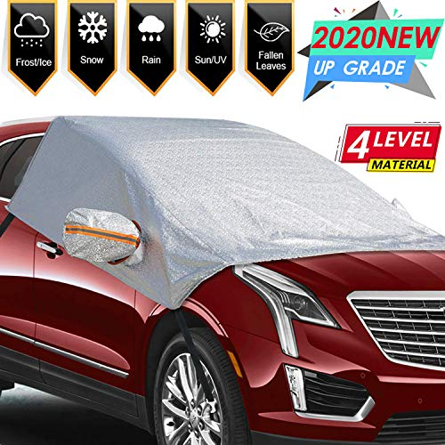 ONCHA Car Windshield Snow Cover, Universal Windshield Ice Cover Protect Windshield and Mirror Covers from Snow, Ice, Frost and Sun Shade(98 x 62 in)