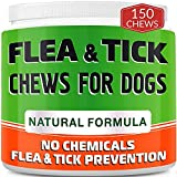 Chewable Flea and Tick Treats for Dogs - Made in USA - Flea and Tick Chews - Bacon Flavor