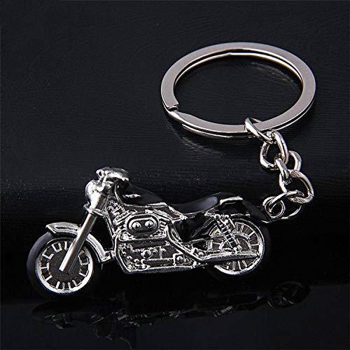 SLIODK sleutelhanger Nieuwe motorfiets sleutelhanger sleutelhanger ring met metalen bedeltje mannen vrouwen auto sleutelhanger 4 kleuren sleutelhanger beste gift sieraden Zwart