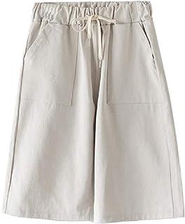 SportsX Womens Plus Size Short 2PCS Elasticated Waistband Baggy Short Pants