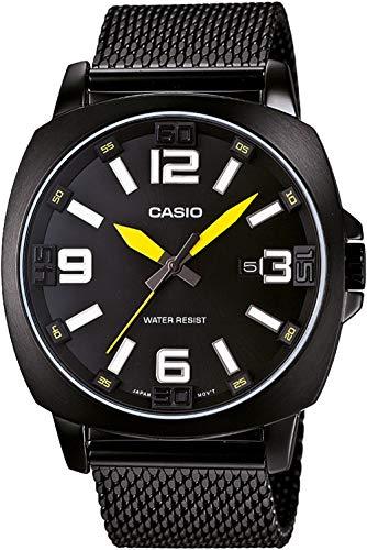 Casio MTP-1350BD-1A1DF - Reloj (Reloj de pulsera, Acero inoxidable, Negro, Acero inoxidable, Negro, Acero inoxidable, Mineral)