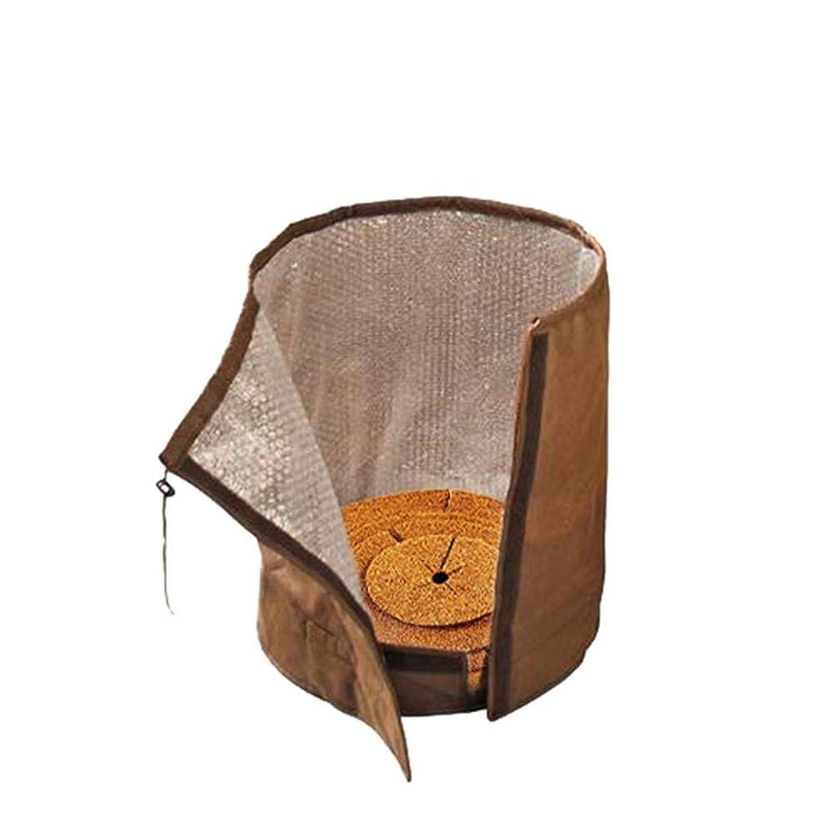 司令官会員印象的QIN 植木鉢保護カバー 植木鉢プロテクター 2層 断熱性 植物保護 冬の霜フリーズ用保護カバー UV保護 ガスケット付き 再利用可能 防寒 防カビ 排水穴付き ガーデニング 屋外での使用に適しています 2サイズ