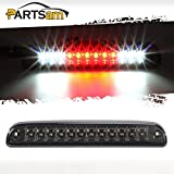 Partsam Red/White 12 LED Smoke Lens Chrome Housing Tail High Mount 3rd Third Brake Light C...