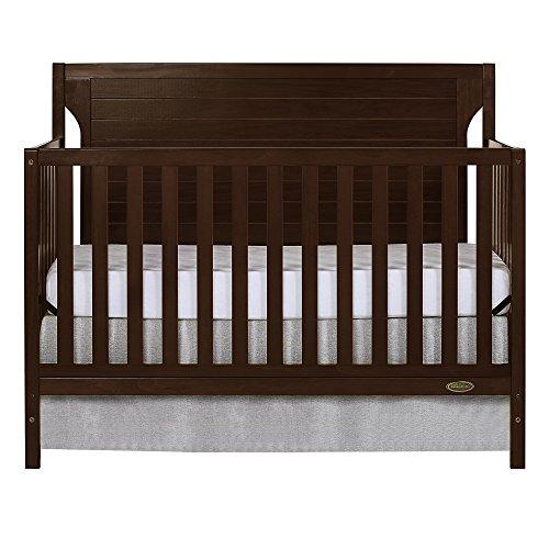 Dream On Me Cape Cod 5-in-1 Convertible Crib in Espresso, Greenguard Gold Certified