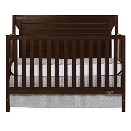 Dream On Me Cape Cod 5 in 1 Convertible Crib, Espresso