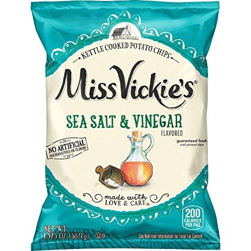 Miss Vickie's Flavored Potato Chips, Salt & Vinegar, 28 Count
