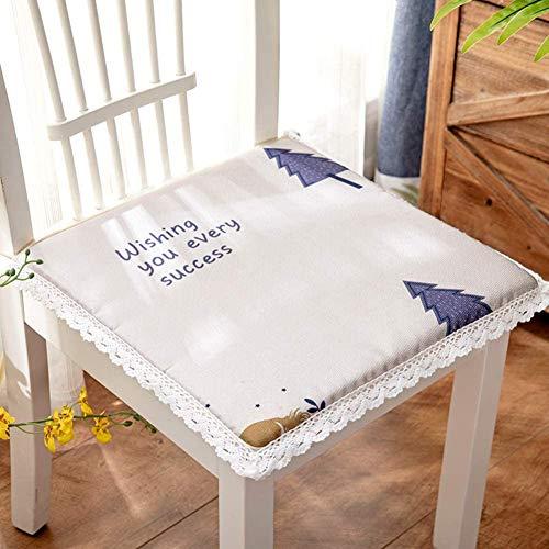 WHZG Cojin Silla Cojines para silla de comedor interior, cojín de asiento transpirable de verano, heces de encaje de estudiante, seda de hielo, almohadillas de asiento de oficina para oficina Cojin Si