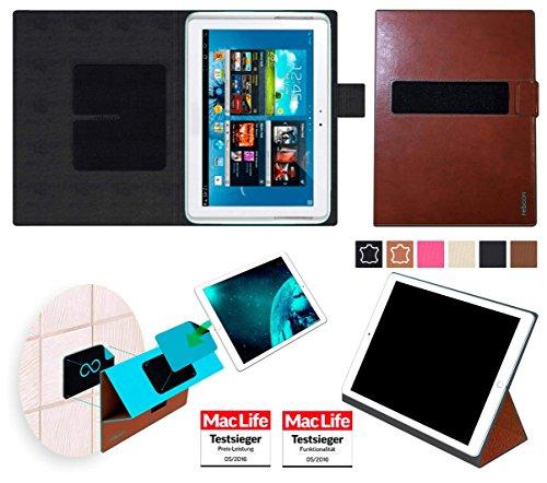 Hülle für Samsung Galaxy Note 800 Tasche Cover Case Bumper | in Braun Leder | Testsieger