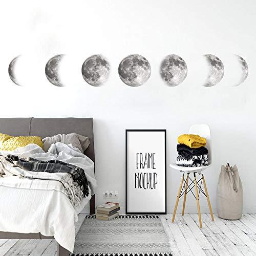 Leuchtpunkte für Leuchtkraft, Wandsticker - Original Mondphasen Karte Ebay Space Moon Wandaufkleber