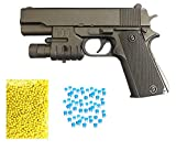 ★Air sports laser gun with red laser light. High grade laser gun. Light Weight. Easy to Use Includes Dual Mode Fire. 1: Water Jelly Shots, 2 : 6 mm bullets, Blowback Loading Action, Then Pull The trigger. ★Allows your kids to safely play shooting gam...