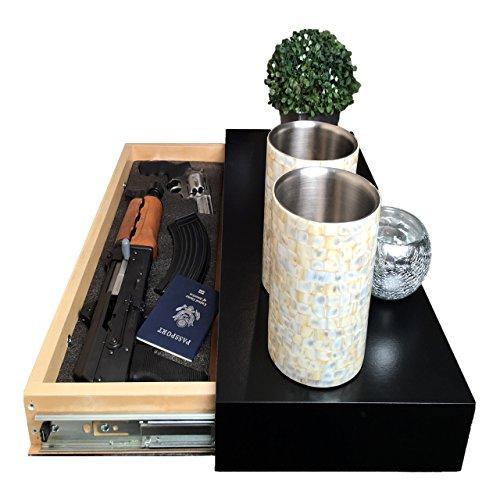 Covert Cabinets (Satin Black GS-1228 Gun Cabinet Wall Shelf...