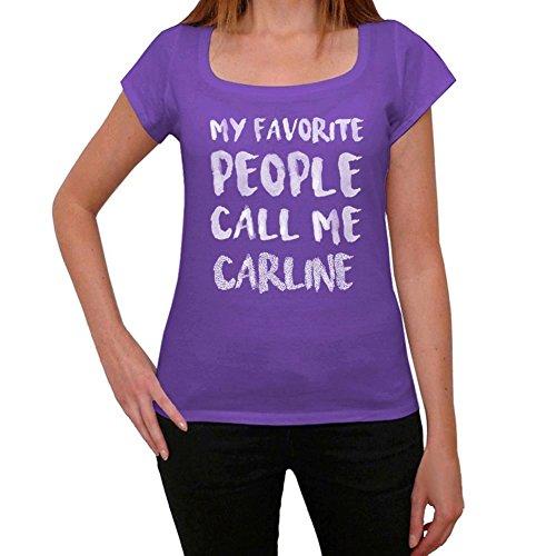 One in the City Carline Mujer Camiseta Púrpura Regalo De Cumpleaños