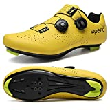 W-LIFE Outdoor Cycling Shoes Men's Road Bike Mountain Bike Shoes with Compatible SPD/SPD-SL MTB Cleat for Women's Indoor Exercise Biking Breathable Shoes Yellow Breathable