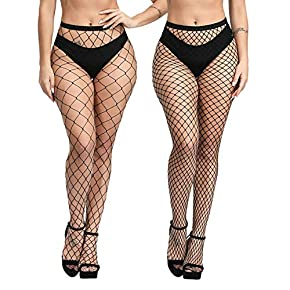 B.ANGEL Elasticity High Waist Tights Fishnet Stockings Thigh High Stockings Pantyhose