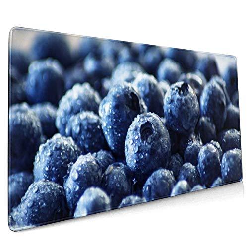 Tapis de Souris XXL Tapis de Souris Gaming, Blueberry 900x400x3 mm Grand Tapis de Souris avec Base en Caoutchouc antidérapante, Tapis de Souris étanche avec Bords Cousus