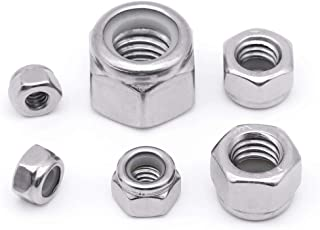 Steel NM and NE Series 2000 pcs #8-32 Zinc Plated Hex Nylon Insert Stop Lock Nuts