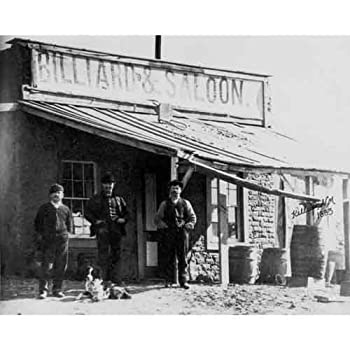 DS Decor Photos Quality Digital Print of a Vintage Photograph - Billiard Parlor & Saloon Kelly NM 1883 Black & White 11x14 inches - Matte Finish