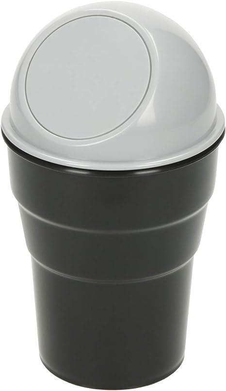 Robuster Universal Mülleimer Fürs Auto Klein 0 5l Abfalleimer Mit Deckel Getränkehalter Tischmülleimer Tragbar Für Küche Büro Bad Kosmetik Auto