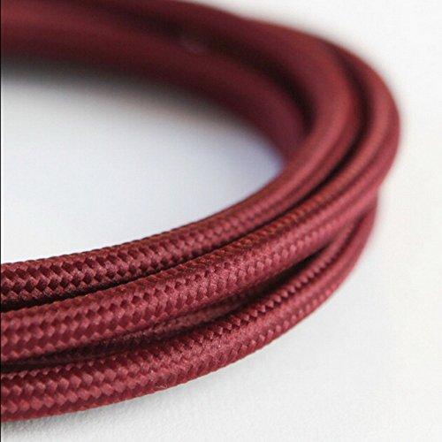 2 * 0.75 mm 5 m Edison vintage textile câble fil électrique câble torsadé rétro textile Fil de suspension Tissu vintage lampe Cordon