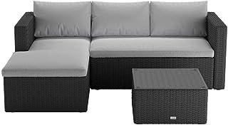 Luxo Vambelle Modular Outdoor Sofa Set - Grey Cushion