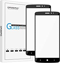 Orzero (2 Pack) for ZTE MAX XL, N9560, ZTE Blade Max 3 (Full Coverage) Tempered Glass Screen Protector, 2.5D Arc Edges 9 Hardness HD Anti-Scratch (Lifetime Replacement Warranty)-Black