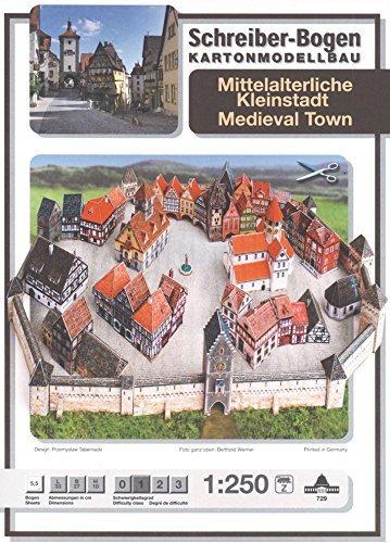 Aue Verlag 33x 27x 10cm mittelalterlichen Stadt Model Kit