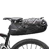 COLUMBUS Bikepacking | Bolsa de Sillín para Bicicleta con Cierre Enrollable, Elementos Reflectantes, Sujeción a Asiento y Tubo, Cordón Elástico en el Exterior. Tamaño Ajustable hasta 18 L.