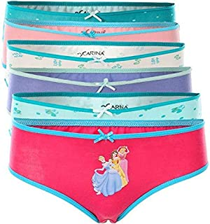Carina Underwear pantie for Girls- Pack of 6 Brief Panties
