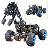 Adeept PiCar-Pro Raspberry Pi Smart Robot Car Kit Programming 2-in-1 4WD Car Robot with 4-DOF Robotic Arm,Electronic DIY Robotics Kit for Teens and Adults Compatible Pi 4B Model 3B 3B+