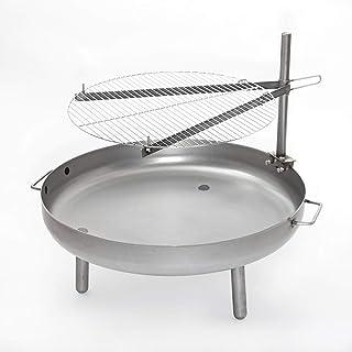 Czaja Stanzteile Grillrost Durchmesser 60 cm für alle Feuerschalen  Universell einsetzbarer Grillrost für alle Feuerschalen mit Höhenverstellung und Schwenkfunktion.