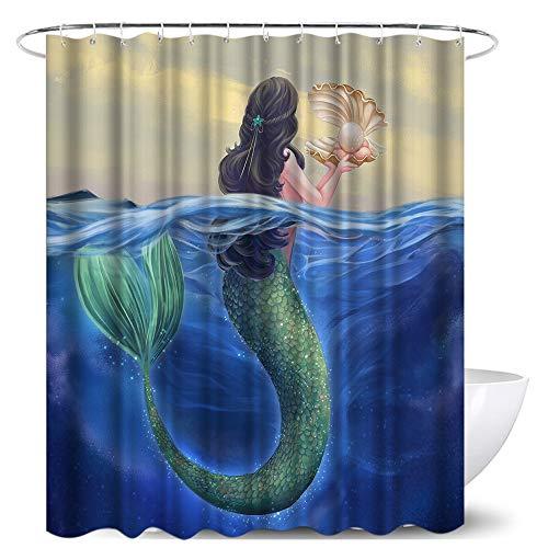 Mermaid Shower Curtain for Bathroom