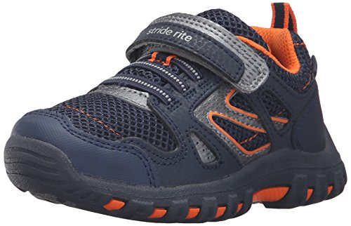 Stride Rite Baby Boys Artin Athletic Sneakers, Navy, 13.5 Infant