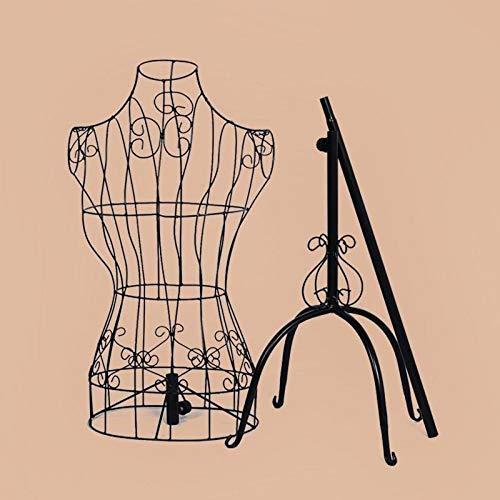 Mannequin de tailleur,Mannequin de mannequin de tailleur,Buste de femme Buste de tailleur en métal,Mannequin de présentation en fer forgé femme modèle étagère de vêtements,140-170cm réglable
