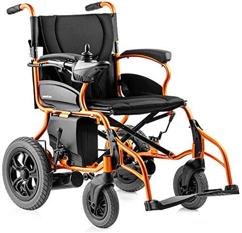 Silla de Ruedas eléctrica Plegable, Silla de ruedas, Silla de ruedas eléctrica de ancianos discapacitados de coches de ancianos automático inteligente portátil Vespa plegable de múltiples funciones, s