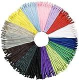 DOITEM 75pcs 30cm / 12 pulgadas invisible multicolor Nylon bobinas cremalleras para costura y manualidades 15 colores
