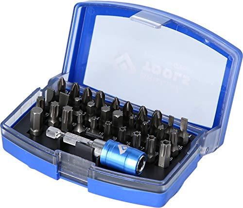 Brilliant Tools BT053032 Jeu d'embouts de vissage. 32 pcs, Bleu/Noir, TLG