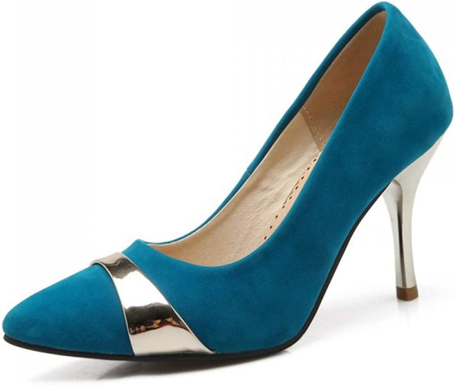 Women Casual Evening High Heels shoes Pointed Toe Slip On Pumps for Comfort