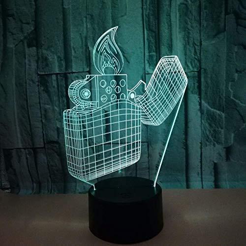 Ight Light 3D Night Light Power Provider Aansteker Controle Kleine Reclame Licht Beste Gift USB Beste Gift Slaapkamer Decoratie 7 Kleur Verandering Decoratie Verjaardag