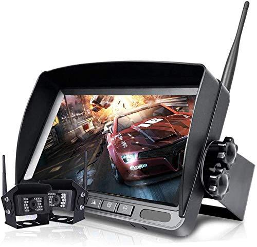 Telecamera di retromarcia digitale senza fili Sistema di monitor HD LCD TFT da 9 pollici, telecamera di retromarcia con monitor, telecamera impermeabile IP 68, trasmissione stabile del segnale