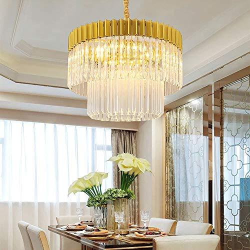 no-branded Sygjal Golden Post-modern Chandelier Light Simple Atmosphere Living Room Crystal Lamp Model Room Lamp Lamp 600 * 400 (mm)