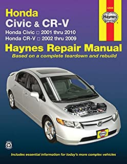 Honda Civic 2001 Thru 2010 and CR-V 2002 Thru 2009