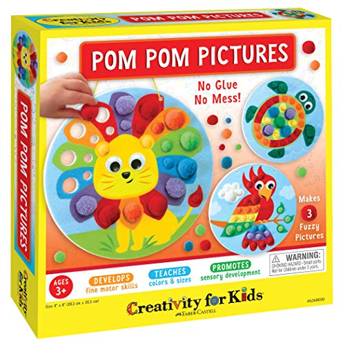 Faber-Castell Creativity for Kids Pom Pom Pictures – Sensory Arts and Crafts for Toddlers and Preschoolers