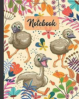 Notebook: Cute Baby Emu Bird - Animals Diary / Notes / Track / Log / Journal , Book Gifts For Women Men Kids Teens Girls B...